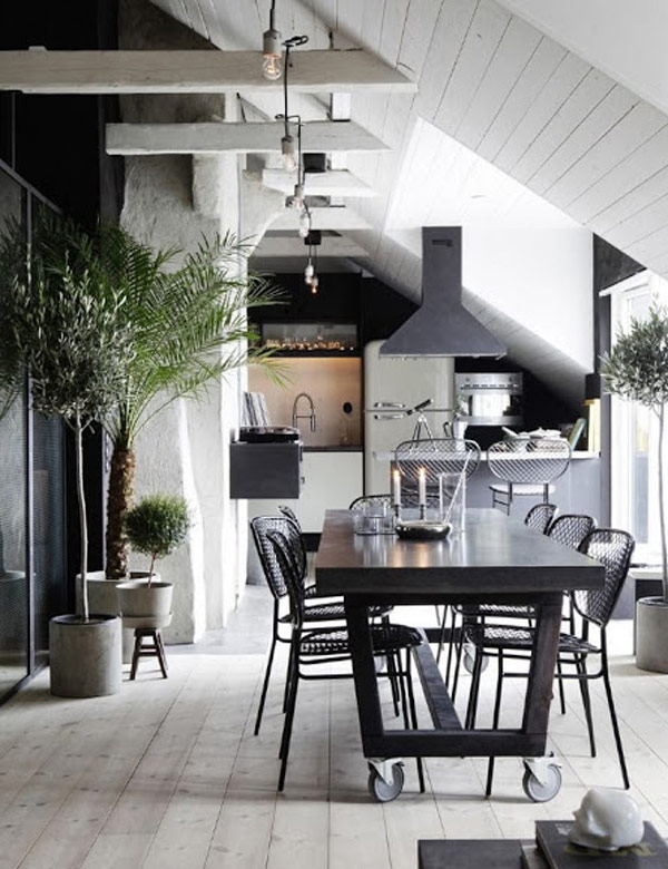 Industrial attic home in Sweden | My Cosy Retreat