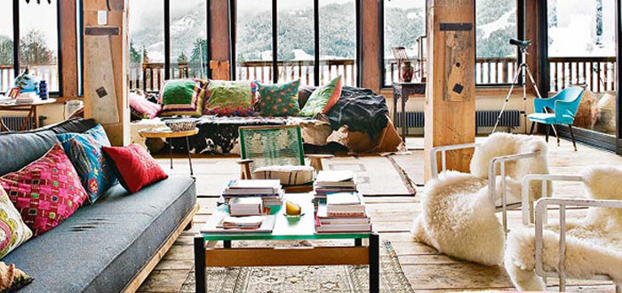 Bohemian chalet in the beautiful French Alps
