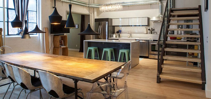 Industrial chic in the kitchen