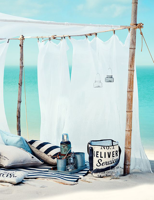 Beautiful beach picnic ideas… in blue | My Cosy Retreat