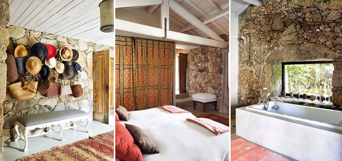 Bohemian stone cottage in Portugal