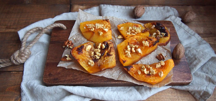 Fall inspiration: Roasted pumpkin with honey and walnuts