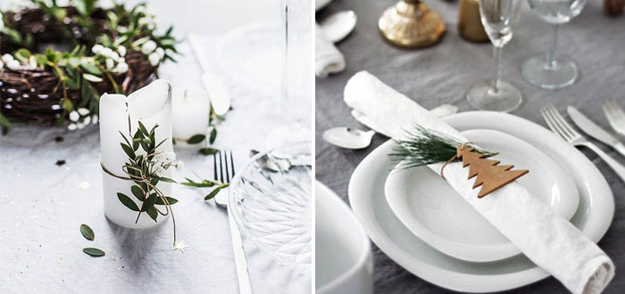 12 nature-inspired Christmas table settings