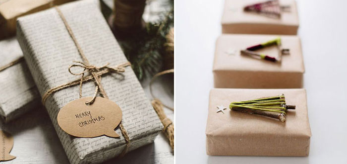 15 natural DIY Christmas gift wrapping ideas