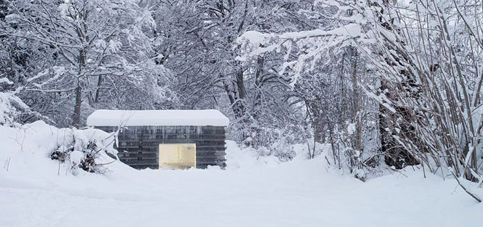 Amazing concrete cabin in the Swiss Alps