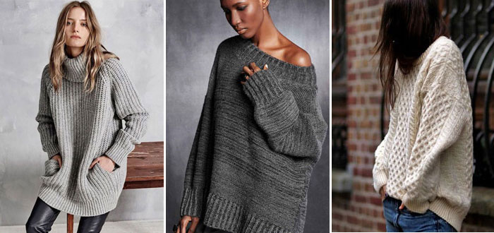 Winter mood: oversized knit sweaters