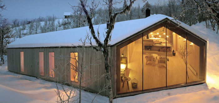 Gorgeous minimalist mountain cabin in Norway