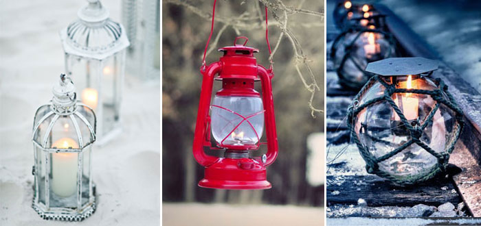 Winter outdoor lantern inspiration