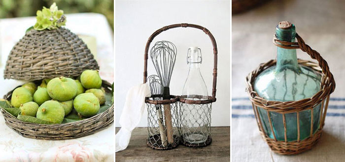 Adorable wicker and rattan accessories for you kitchen