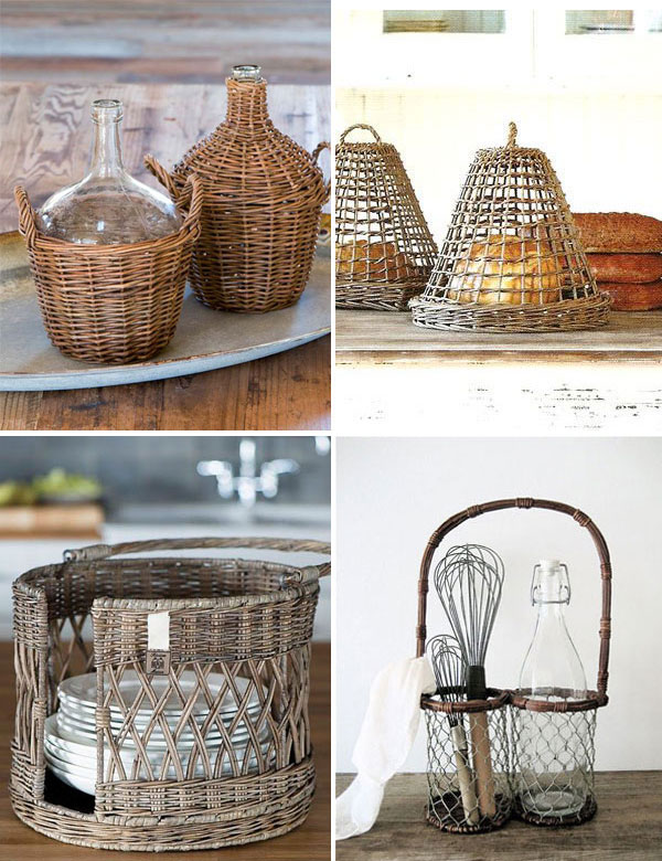 Adorable kitchen wicker and rattan accessories   My Cosy Retreat
