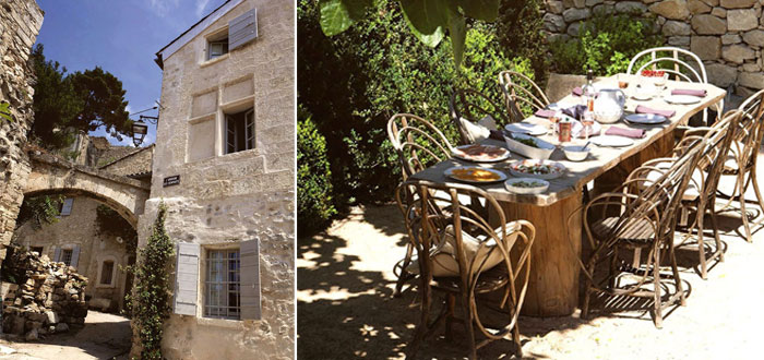A family restored stone house with a lovely garden in Provence