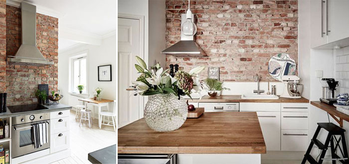 10 charming brick wall kitchen designs