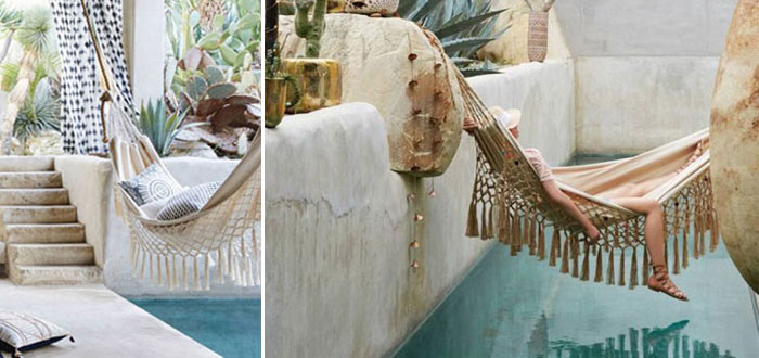 Summer bliss: 10 romantic outdoor boho hammocks