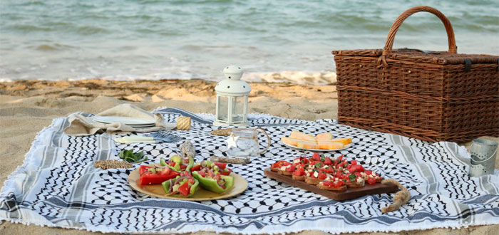 A magical and serene summer beach picnic