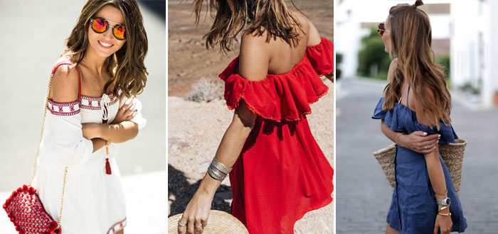 10 cool off shoulder dresses to wear this summer