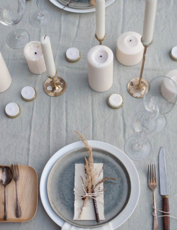 Beautiful minimalist autumn table settings   My Cosy Retreat