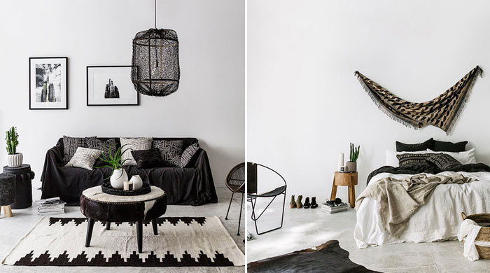 A New Zealand ethnic chic apartment, designed by Indie Home Collective