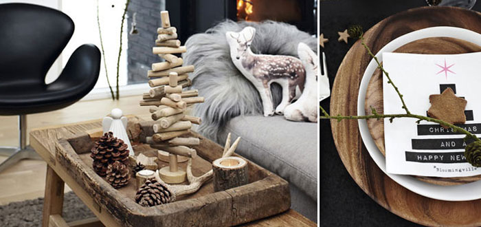 Rustic Christmas decoration in a lovely Danish home