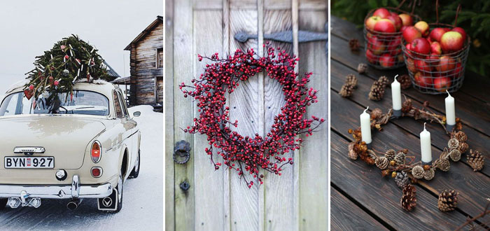 Classic red minimalist Christmas inspirations
