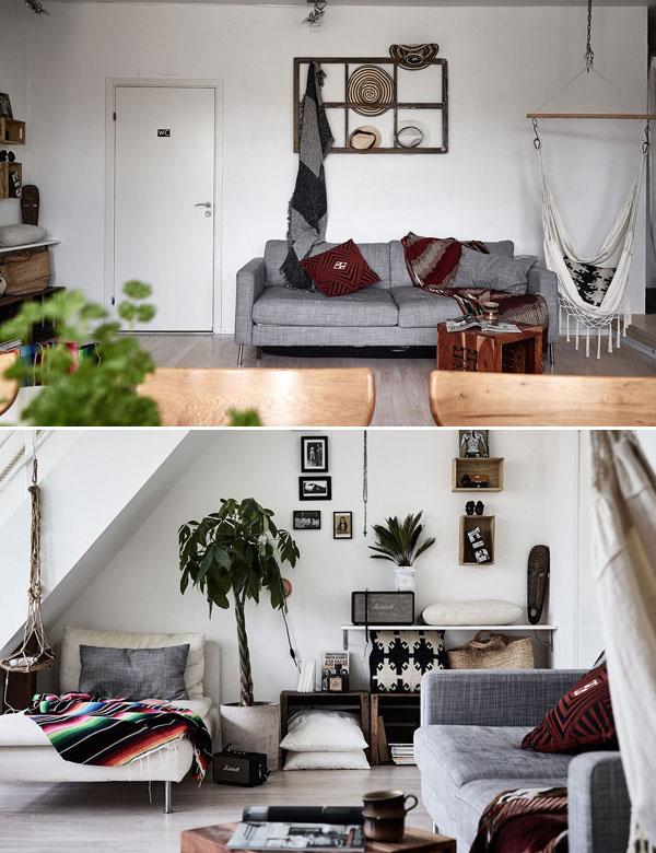 Amazing ethnic chic duplex apartment in Sweden   My Cosy Retreat