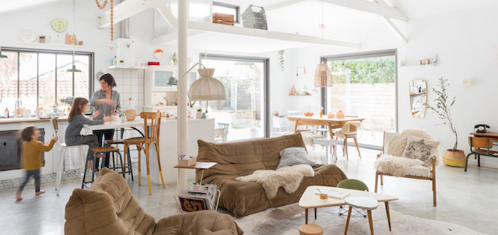 A peaceful eclectic beach house in Biarritz, France