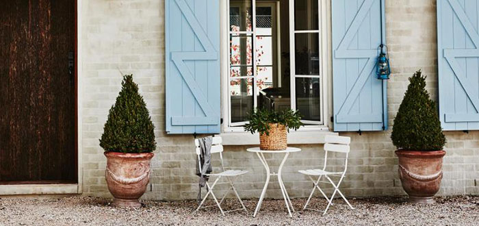 Romantic French style country farmhouse in Australia