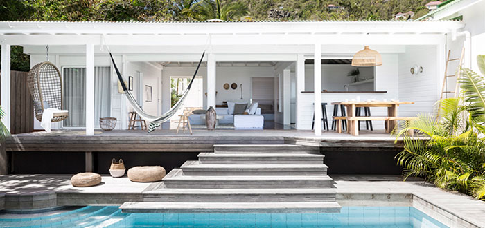 A tropical beach retreat in St. Barts