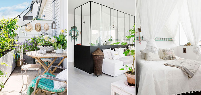 Small and cute ethnic chic Swedish apartment in Stockholm