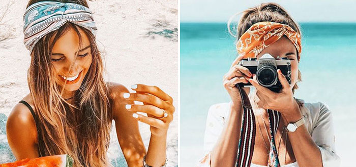 How to wear a headband, headscarf and turban this summer?