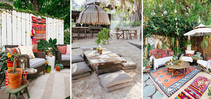 Mexican outdoor decor with gorgeous boho-chic vibes